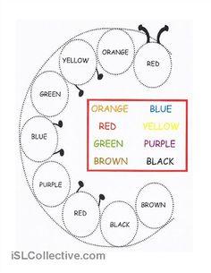 640 Free Esl Colours Worksheets Colours Pinterest