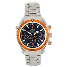 A stainless steel automatic gentleman's Omega Seamaster Planet Ocean bracelet watch.