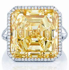 16 carat. Intense Yellow Diamond Ring from Birks