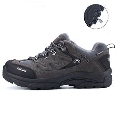 44.90$  Know more - http://air8e.worlditems.win/all/product.php?id=32794294464 - Best Selling Mens Large Size Climing Shoes Leather Sport Shoes Trekking Mountain Boots Skid-Resistance Outdoor Shoe Men Trekking