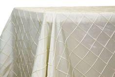 "Pintuck 90x156"" rectangular Tablecloth - Ivory"