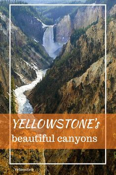 Which spectacular canyons in Yellowstone National Park need to be on your must-see Yellowstone list? I've got five of them for your Yellowstone trip planning. Yellowstone Attractions, Yellowstone Hikes, Us National Parks, Grand Teton National Park, Yellowstone National Park, Us Travel Destinations, Trip Planning, Vacations, Family Adventure
