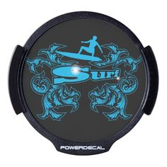 Surfboarder LED Car Decal