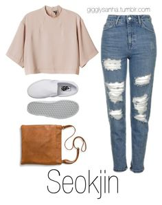 """Roaming Houston // Seokjin"" by suga-infires ❤ liked on Polyvore featuring Topshop, Monki, Vans and Merona"