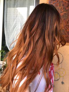 ginger balayage hairstyle
