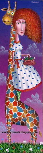 """Artist Zurab Martiashvili: 2013, : Giraffe"""""""