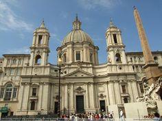 kościół Santa Agnese w Rzymie  Borromini (fasada)