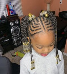 Indys finest on kid friendly crochet ponytailsstitchbraids protectivehairstyles fulanibraids protectivestyles tribalbraids neatbraids Little Girl Braids, Braids For Kids, Girls Braids, Kid Braids, Black Baby Girl Hairstyles, Black Kids Braids Hairstyles, Kid Hairstyles, Hairstyle Ideas, Easy Braid Styles