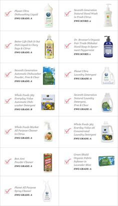 The Dirty on Getting Clean: Checklist (goop) Safe Cleaning Products, Cleaning Solutions, Organic Living, Natural Living, Cleaning Checklist, Cleaning Hacks, Cleaning Recipes, Powder Laundry Detergent, Natural Cleaners