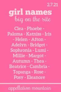 Phoebe, Millie, Thea + more trending #girlnames #babynames #namingbaby #appellationmountain Celebrity Baby Names, Celebrity Babies, Baby List, First Daughter, Place Names, The Thing Is, Baby Girl Names, Cool Names, Good Advice
