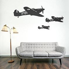 War Plane wall decal Military wall decal Air Aviation wall
