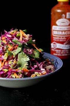 Sriracha + Coriander Coleslaw