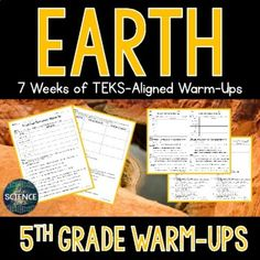 Natural Resources and Changes in Earth's Surface Warm-Ups - 5th Grade TEKS