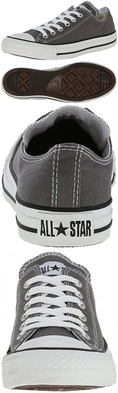 e6a6492b2bbd Converse Unisex Chuck Taylor All Star Ox Low Top Classic Charcoal Sneakers  - 10.5 D(M) US
