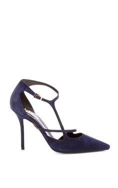 Shop Ergo Sexy Suede Pumps by Roger Vivier Now Available on Moda Operandi
