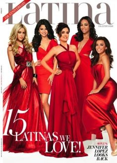 Selena Gomez on the cover of the Latina Magazines 15th anniversary cover.