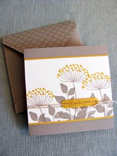 Stampin Up Flower Thank You Note Cards on Etsy, $15.00