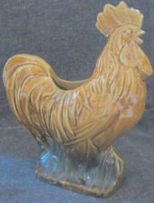 Vintage McCoy Pottery RARE Brown Rooster Planter Old Art Excellent 1953 Mint