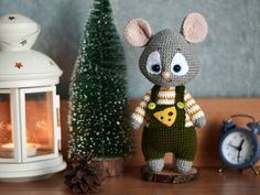 Crochet mouse toy Interior mouse toy Knit mouse toy Mouse plushie