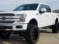 This 2018 Ford is running Hostile Stryker wheels Nitto Trail Grappler tires with ReadyLIFT Suspension Lift suspension. Ford 4x4, Lifted Ford Trucks, Chevy Trucks, F150 Lifted, Custom Trucks, Pickup Trucks, Ford Explorer Accessories, Truck Accessories, 2018 Ford F150