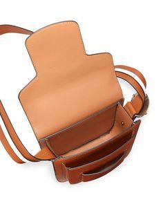 Modern Buckle Saddle Bag