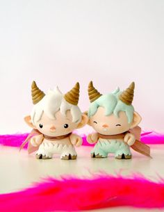 Custom Micro Munny cake toppers from Mijbil Creatures