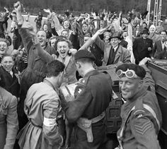 Canadians liberate the Dutch. More than 7000 Canadians died in the Netherlands during WW2