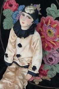 Antique French Pierrot boudoir doll on eBay