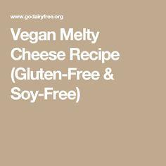Vegan Melty Cheese Recipe (Gluten-Free & Soy-Free)
