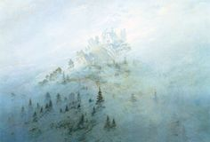 "Caspar David Friedrich ""Morgennebel im Gebirge""  Caspar David Friedrich ""morning mist in the mountains""    http://www.kunstkopie.nl/a/casper-friedrich/morgennebel-im-gebirge.html"