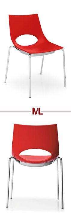 stylischer Stuhl Congress   Dieser rote Vierbeiner sorgt für ein echtes Highlight in deinem Esszimmer bzw. in deiner Küche. #red #chair #MoebelLETZ