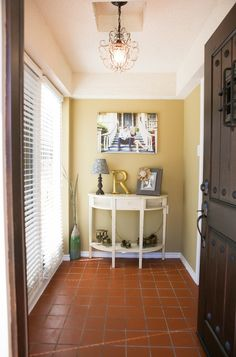 Similar tile to front entryway