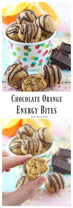 These Chocolate Orange Energy Bites make the perfect healthy snack for kids - chocolate and orange were meant to go together! http://www.superhealthykids.com/chocolate-orange-energy-bites/