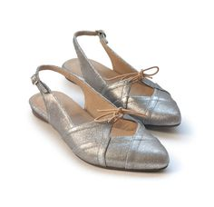 New Silver flats. Suki model. Women shoes leather by LieblingShoes