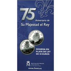 30 Euro Silber 75. Geburtstag von König Juan Carlos I UN
