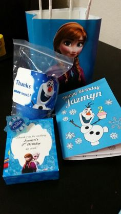 Frozen Party. Wanted to give out something that kids would enjoy and parents would approve. So I thought the giveaways should be activity based.