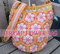 African Flowers Bag...  Bolso con la Flor Africana...