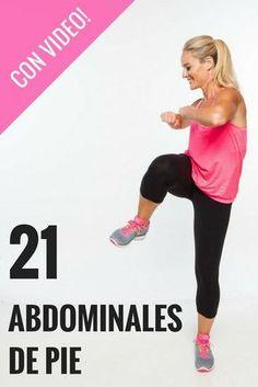 """¿Odias los abdominales """"crunches""""? Prueba con estos que puedes hacer de pie! Mira el video AQUÍ"""