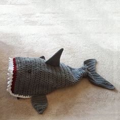 Crochet shark tail blanket makes a perfect gift for by LilCuddles