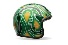 Bell Custom 500 Mean Green Chemical Candy Helmet - a motorcycle lid with an attitude. Available at Get Lowered - http://www.getlowered.com/