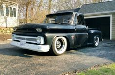 1964 Chevrolet Chevy C10 Pickup Stepside Hotrod Custom USA -01 wallpaper background