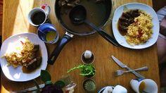 Self made rice dish + beef (Oriental style)