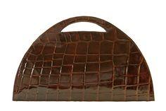 Vintage Dark Brown Crocodile Embossed Recicled by VintageCarwen