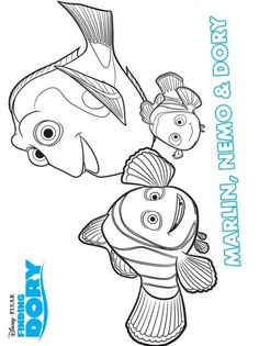 16 Coloring Pages Of Finding Dory On Kids N Funcouk
