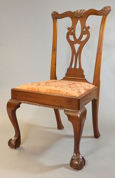 1760-1770 American Side chair in the Mead Art Museum, Amherst