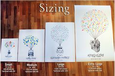thumbprint guestbook sizing