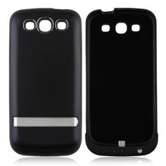 3200mAh External Battery Power Case witn Stand for Samsung Galaxy SIII i9300 - Black US$22.99 +free shipping