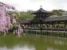 Covered wooded bridge at Heian Jingu