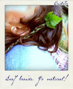 Go Natural! Polaroid style. Copyright ©Cristofor Arts/Cristina Schek