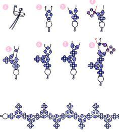 Как сплести браслет из бисера | Плетение бисером